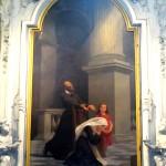 San Girolamo Emiliani raccomanda al cielo un orfana e una suora educatrice